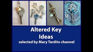 Altered Key Ideas – DIY Key Jewelry Ideas – Repurposed Keys Crafts - Crafts to Make and Sell