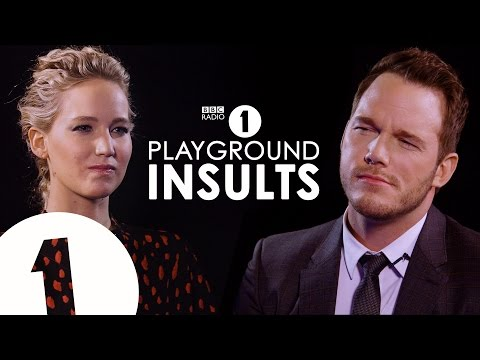 Jennifer Lawrence & Chris Pratt Insult Each Other CONTAINS STRONG LANGUAGE