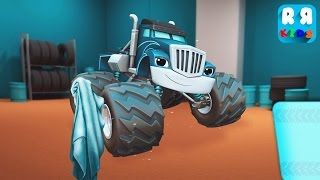 Playtime With Blaze and the Monster Machines - Wash And Learning With Crusher