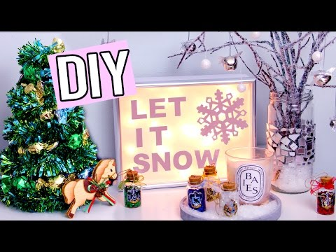 DIY WINTER/Christmas Decorations! Light up sign, Edible Tree & more! Cute Holiday projects!