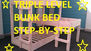 Triple level bunk beds DIY
