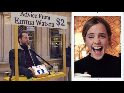 Emma Watson Gives Strangers Advice for 2 at Grand Central Vanity Fair