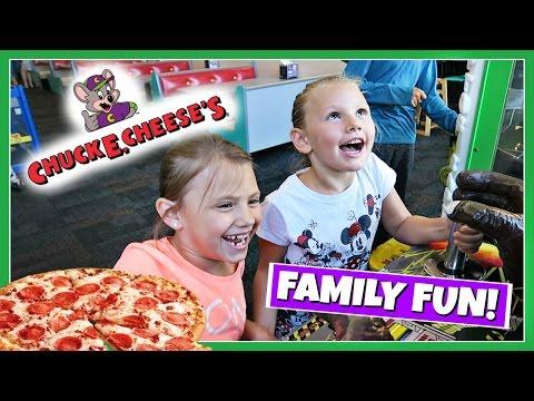 FAMILY FUN PLAYING AT CHUCK E CHEESE