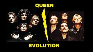 Queen - Evolution through the years. A tribute to Freddy Mercury