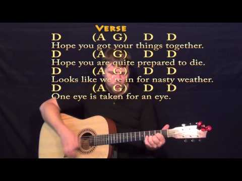 Bad Moon Rising (CCR) Guitar Strum Cover Lesson with Chords and Lyrics