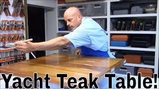 Custom teak table (Refinish and Install)