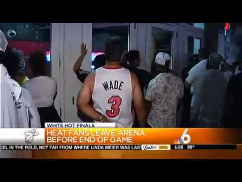 Miami Heat Fans Leave The Arena Early Thinking They Lost Try Coming Back