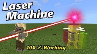 LASER MACHINE | Minecraft PE