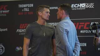 'Wonderboy' Thompson and Darren Till face off at UFC Liverpool media day
