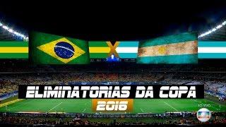 Brasil x Argentina - Jogo Completo - Eliminatórias da Copa - 10/11/2016 - Futebol HD