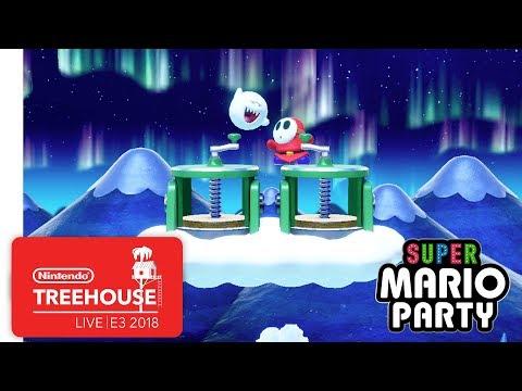 Super Mario Party Gameplay Pt. 2 Nintendo Treehouse Live E3 2018