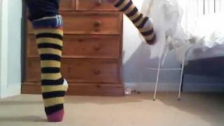 Ballet in stripy socks