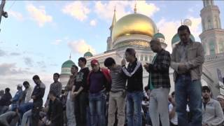 Eid Al Adha prayer at Moscow Central Mosque