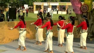 Beautiful Arunachali Indian girls dance gracefully