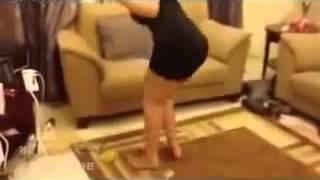 رقص كيك رقص منزلي من الاخر صدرها مبين