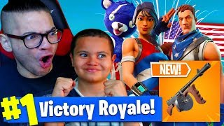 *NEW* DRUM GUN IS TOO OVERPOWERED! *NEW* CRAZY JULY 4 SKINS! FORTNITE BATTLE ROYALE 9 YEAR OLD KID!