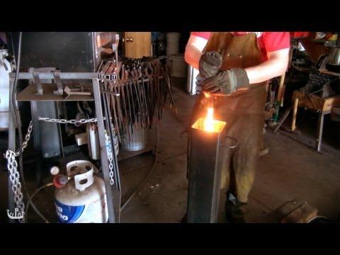 Making a Knife from Crucible Steel (Wootz Seax)