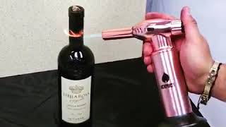 Open your wine bottle with a Butane Torch