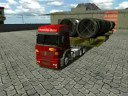 Como estacionar um bitrem no 18 W O.S.Haulin BIG TRAILER. som escape direto. turbo
