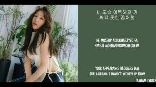 love in color - taeyeon lyrics hanromeng