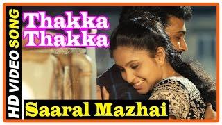 Thakka Thakka Tamil Movie | Songs | Saaral Mazhai song | Aravinnd campaigns in Abhinaya's house