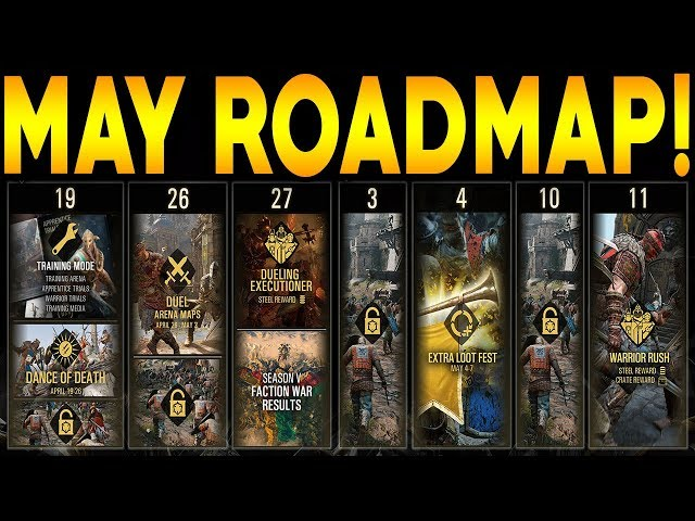 For Honor: MAY ROADMAP DETAILS! 3 POSSIBLE HERO REWORKS! ARENA MODE RELEASE DATE!