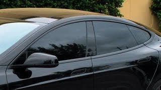 Tesla Model S Black Out Window Trim with Plasti Dip