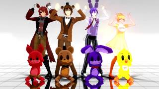 【Five Nights At Freddy's - Caramelldansen】MMD