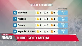 S. Korea adds third gold medal, second bronze on Saturday games