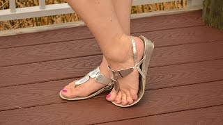 Well Worn Womens Silver Sandals Small Heel Shoes For Sale