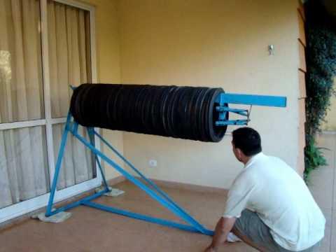 Reciclagem de pneus fábrica de tubos de drenagem .wmv