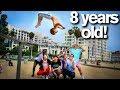 Extreme Acro Gymnasts vs 8 YEAR OLD *dares*