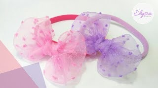 Headband Ideas for Baby With Organza Fabric & Nylon Band | DIY by Elysia Handmade