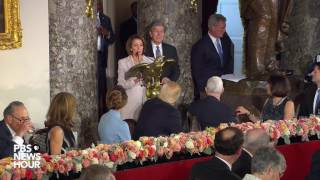Pelosi, Schumer and Blunt bestow inaugural gifts on President Donald Trump