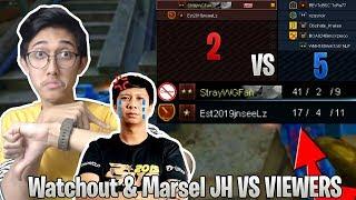 2 VS 5 LAWAN VIEWERS! KILL 40+ TERNYATA MARSEL JH CUPU?! NGAKAK - Point Blank Indonesia