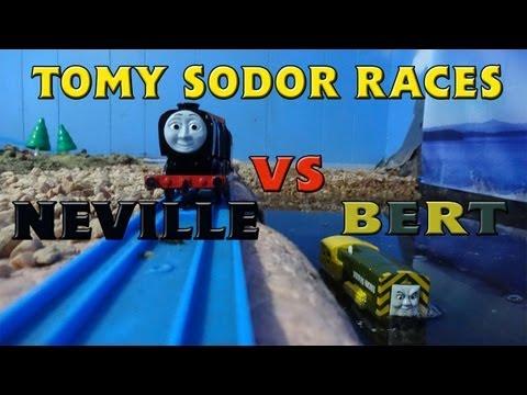 Tomy Sodor Races Neville vs Bert Race 13