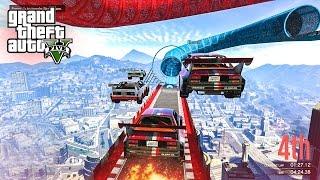 NEW CRAZY STUNT RACES! - (GTA 5 DLC Funny Moments)