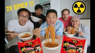 2X KOREAN NUCLEAR FIRE NOODLE CHALLENGE (HAPPY END OF RAMADAN)