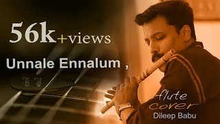 Theri song/En jeevan/Unnale  ennalum/vijay,samantha/Flute cover By , Dileep Babu.B