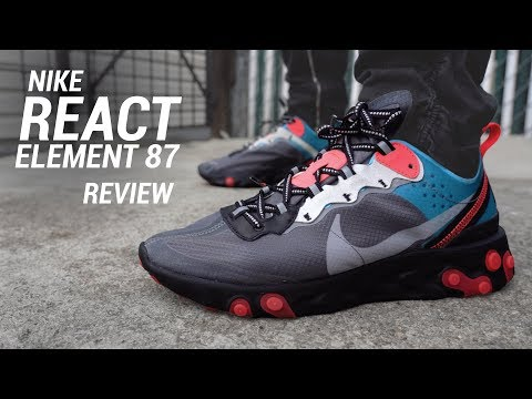 Nike React Element 87 Chill Blue Solar Red Review & On Feet