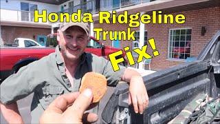 Fixing Locked Or Jammed Shut Honda Ridgeline Pickup Trunk