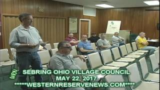 SEBRING VILLAGE COUNCIL MAY22 2017 VISITOR COMMENTS (MR. MOORE)