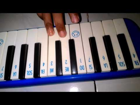 Lagu kubuka album biru (bunda), menggunakan pianika