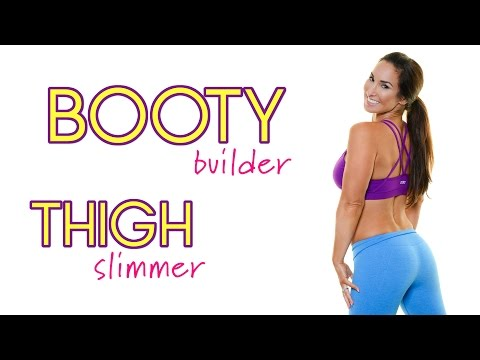 Booty Building, Thigh Slimming Workout   Natalie Jill