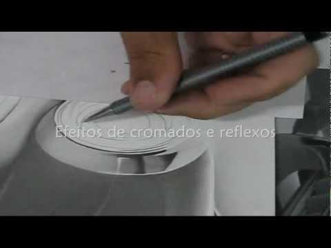 CURSO AULAS DE DESENHOS REALISTAS Como fazer efeitos de cromados e reflexos