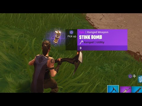 """NEW """"Stink Bomb"""" GAMEPLAY + NEW """"Launch Missile"""" LOCATION in Fortnite! (NEW Fortnite UPDATE 1.64)"""