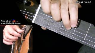 SAFE & SOUND: Fingerstyle Guitar Lesson + TAB by GuitarNick