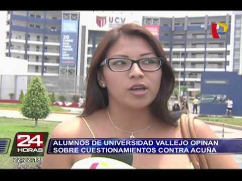 Alumnos de la UCV opinan sobre cuestionamientos contra César Acuña