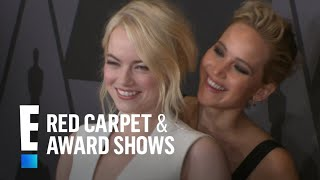 Jennifer Lawrence & Emma Stone Get Silly on Red Carpet   E! Live from the Red Carpet