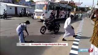 Viral Video: Drunken Lady beats her husband in Karur | Tamil Nadu | News7 Tamil